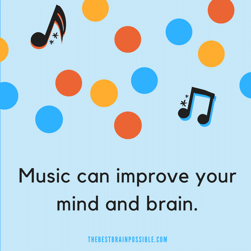 Music therapy can reduce pain, anxiety, and depression andimprove attention, memory, and cognition. improve brain performance